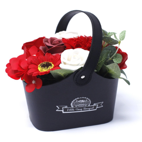 Rich Red Soap Bouquet Petite Basket